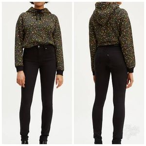 Levi's Black High Rise Skinny Jeans